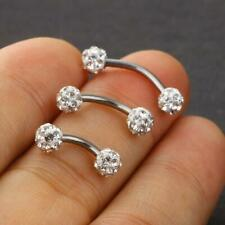 16g 6 8 10mm CZ Ear Studs 316L Stainless Steel Tragus Cartilage Helix Earrings