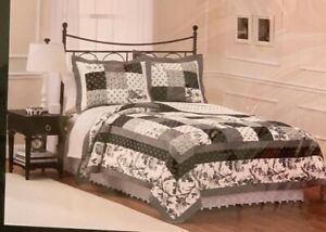 LAURA ASHLEY AMBERLEY QUILT KING SIZE PATCHWORK