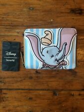 Disney Loungefly Blue & White Stripes DUMBO Wallet Timothy Mouse - New with tag