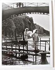 Robert Doisneau-The Canal St. Martin 1953-2 GIRLS CROSSING BRIDGE 14x11 Unsigned