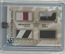 Superlative Vault V1/1 on All-Star Quad-Patch Silvr Niedermayer Leetch Roy Koivu