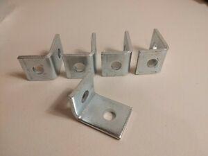 """5-Heavy Duty 3/16"""" Thick Metal Wall Mounted L Shape Angle Shelf Bracket Brace"""