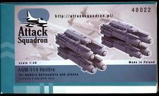 Attack Squadron Models 1/48 AGM-114 HELLFIRE MISSILES Resin Set