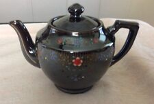 Vintage  Brown Tea Pot Hand Painted- Japan
