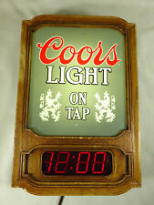 Rare 1985 Light On Tap version Coors Light Up Electric Bar Man Cave Sign