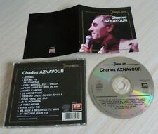 CD ALBUM BEST OF DISQUE D'OR CHARLES AZNAVOUR 14 TITRES REEDITION 1991