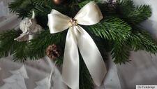 10 Weihnachtsschleifen,Christbaumschleifen creme ,Deko Weihnachten