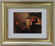 BELLISSIMO perdenti II by Jack Vettriano incorniciato & MOUNT ART PRINT PICTURE GOLD