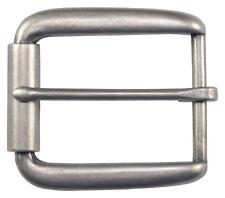 """Elongated Roller Belt Buckle for 1 1/2"""" Belts - Silver - TheBeltShoppe"""