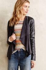 NEW ANTHROPOLOGIE ELEVENSES Leather-Suede Shadow Jacket size XS (Dark Grey) $498
