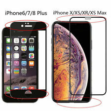 Full Cover Real Tempered Glass Screen Protector For iPhone X XS MAX XR 8 7 6 10D