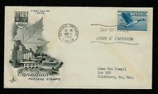 CANADA #320 1952 CANADA GOOSE FDC - ARTCRAFT CACHET