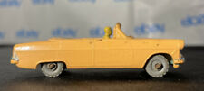 Vintage Lesney Matchbox Ford Zodiac Convertible No. 39 With Driver - Grey Wheels