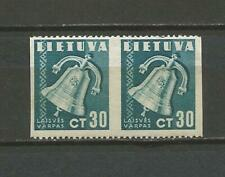 Lithuania Litauen 1940 MLH Mi 441 Sc 321 Peace iss imperforated verticaly