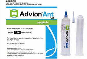 GENUINE ADVION ANT GEL Syngenta Ant Killer Bait Dupont Pest Control FRESH STOCK