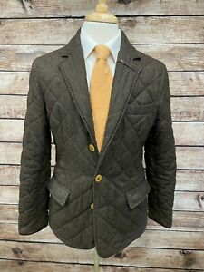 Barbour Riber Diamond Quilted Jacket Size M Green
