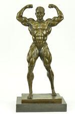 BRONZE Champion Body Builder Mr. Universe Muscle Man Statue Figurine Sculpture