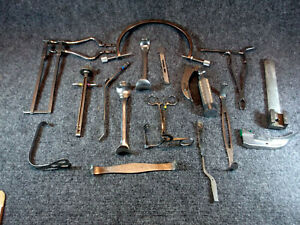 VINTAGE MEDICAL TOOLS LOT 77 pcs. 13+ pounds  Stainless Steel