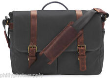 ONA Brixton Canvas Camera/Messenger Bag (Black) -Handcrafted Premium Stylish Bag