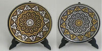 Damascene Gold / Silver Star of Apostles Round Decorative Mini Plate Midas Spain