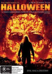 Halloween DVD Rob Zombie Movie - DIRECTOR'S CUT - RARE - Australian Region 4 PAL