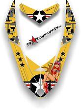 SKI DOO REV XP SNOWMOBILE SLED GRAPHICS DECAL Sticker Hood Aircraft Pinup Yellow