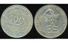 ETATS DE L'AFRIQUE DE L'OUEST  100 francs  1987   ( bis )