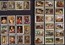 97T4 HONGRIE 32 Tableaux de maitre, exposés sur differend musées. Timbres oblit.