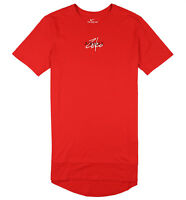 NIKE Air Max Zero 2 Crew T-Shirt sz S Small Red White Black Long Curved Hem