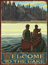 Welcome to Lake Metal Sign: Country Home Decor Wall Accent