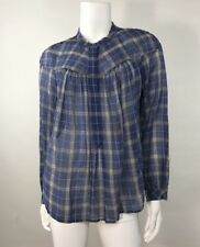 NWT Rebecca  Taylor Plaid Blue Top SZ 6 Retail$225