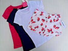 NEW Lot Set Of 3 ISAAC MIZRAHI T-shirt Girls Size S (4T) 4 & Strawberry Shorts