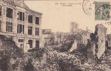 CPA GUERRE 14-18 WW1 REIMS 266 école des arts timbrée 1922