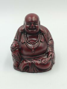Red Resin Heavy Laughing Buddha, Fat Buddha Figure Ornament
