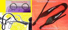 NEOPRENE SHOULDER STRAP to SONY ALPHA NEX-7 NEX-5 NEX-5R NEX-6 NEX-7B +2 RINGS