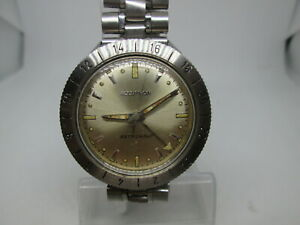 RARE BULOVA ACCUTRON ASTRONAUT GMT STAINLESS STEEL TUNING FORK MENS WATCH