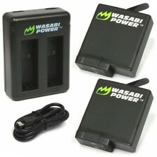 Wasabi Power Battery (1220mAh) x 2 with Dual USB Charger for GoPro HERO 5 Go Pro