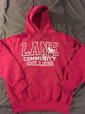 CHAMPION Women's LANE Community College Pink Hoodie Size S Small Sweatshirt NICE