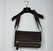 Sac bandoulière en cuir Tom Ford. Leather shoulder bag. Bon état. Leder Tasche