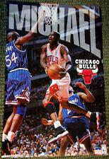 Rare MICHAEL JORDAN 1996 Chicago Bulls vs. Orlando NBA Starline Action Poster