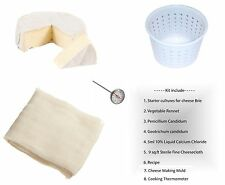 Brie Soft Cheese Full Making Kit Mold Thermometer Calcium Rennet Cheesecloth