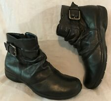Earth Spirit Black Ankle Leather Lovely Boots Size 6 (736vv)