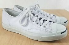 Converse Jack Purcell White Leather Sneakers Men's US Size 10