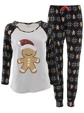 Not a Morning Person Juniors Gray Black Christmas Gingerbread Man Jogger Pajamas