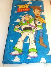 "Vintage 90's Disney Toy Story Woody Buzz Kids Single 30"" X 57"" Sleeping Bag"