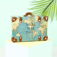 Sass & Belle Travel Suitcase Money Box Travel Gift