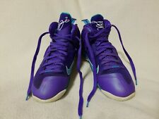 Nike Labron James Purple Leather Basketball Shoes-SZ 9.5 Good Preowned Condition