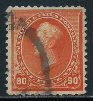 SCOTT 229 1890 90 CENT PERRY REGULAR ISSUE USED VF CAT $140!