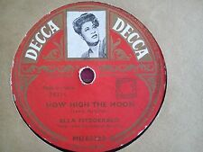 78 Tours ELLA FITZGERALD-HOW HIGH THE MOON/YOU TURNED THE TABLES ON ME