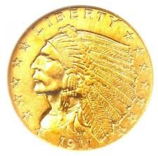 1911-D Indian Gold Quarter Eagle $2.50 Coin (Strong D) - Certified NGC AU53